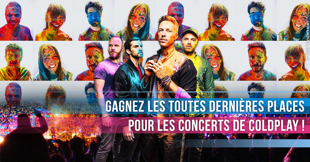 Gagnez les derniers accès pour les concerts de Coldplay !