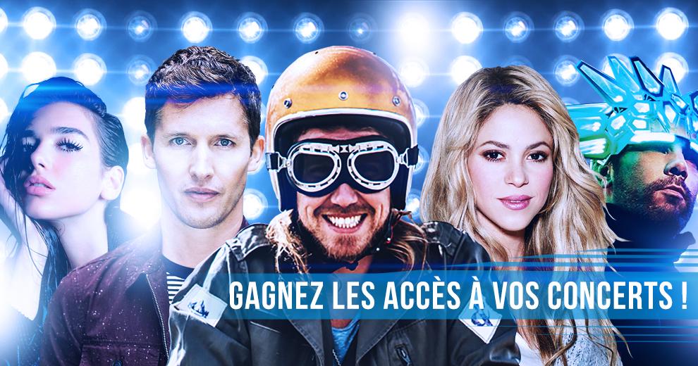 Vivez les concerts de vos stars préférées en Belgique uniquement avec Radio Contact