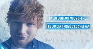Assistez au concert privé d'Ed Sheeran !
