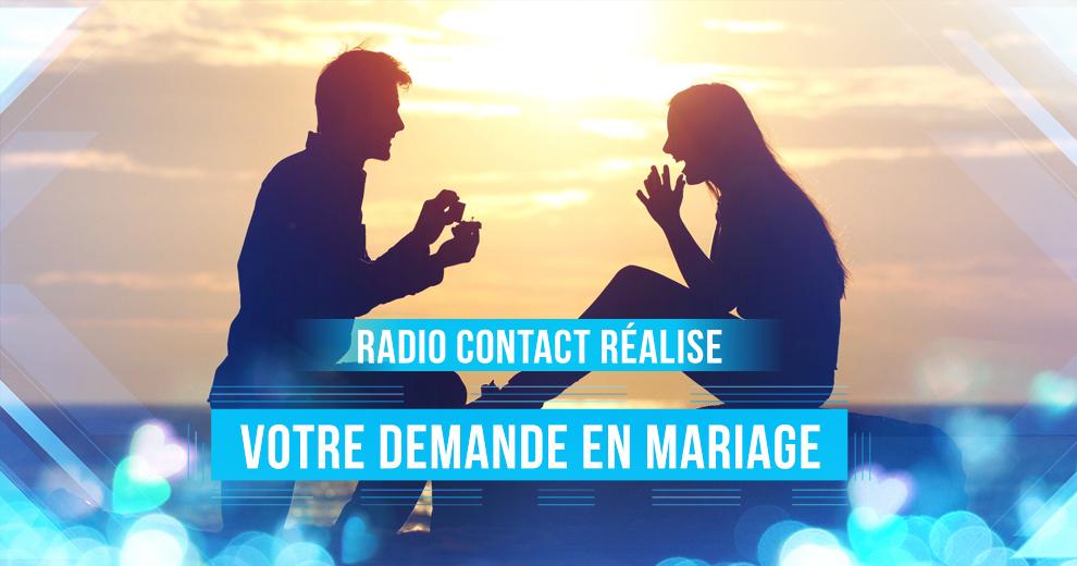 Radio Contact réalise votre plus belle demande en mariage