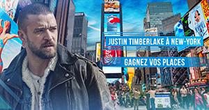 Gagnez vos accès pour le concert de Justin Timberlake à New-York